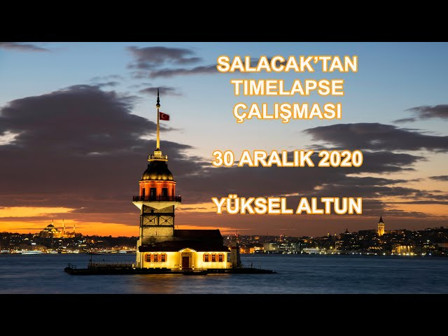 Salacak'tan Timelapse - 30 Aralık 2020 - İstanbul / Timelapse work from Salacak - Dec 30, 2020