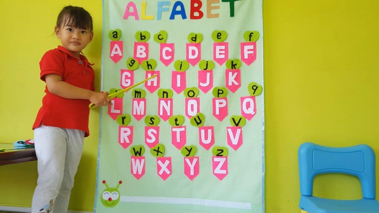 Chika Belajar ABC 💖 Belajar Menghitung 💖 Belajar Mengenal Warna 💖 Flanel Alfabet