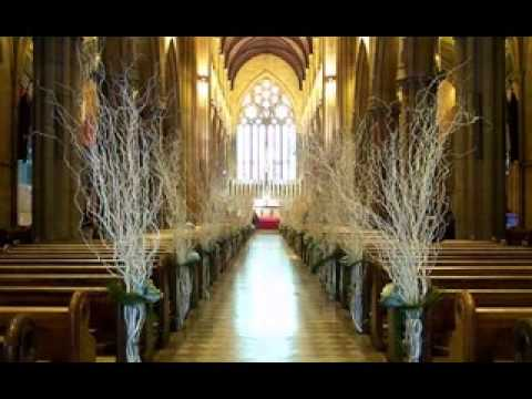 simple church wedding decor ideas youtube. Black Bedroom Furniture Sets. Home Design Ideas