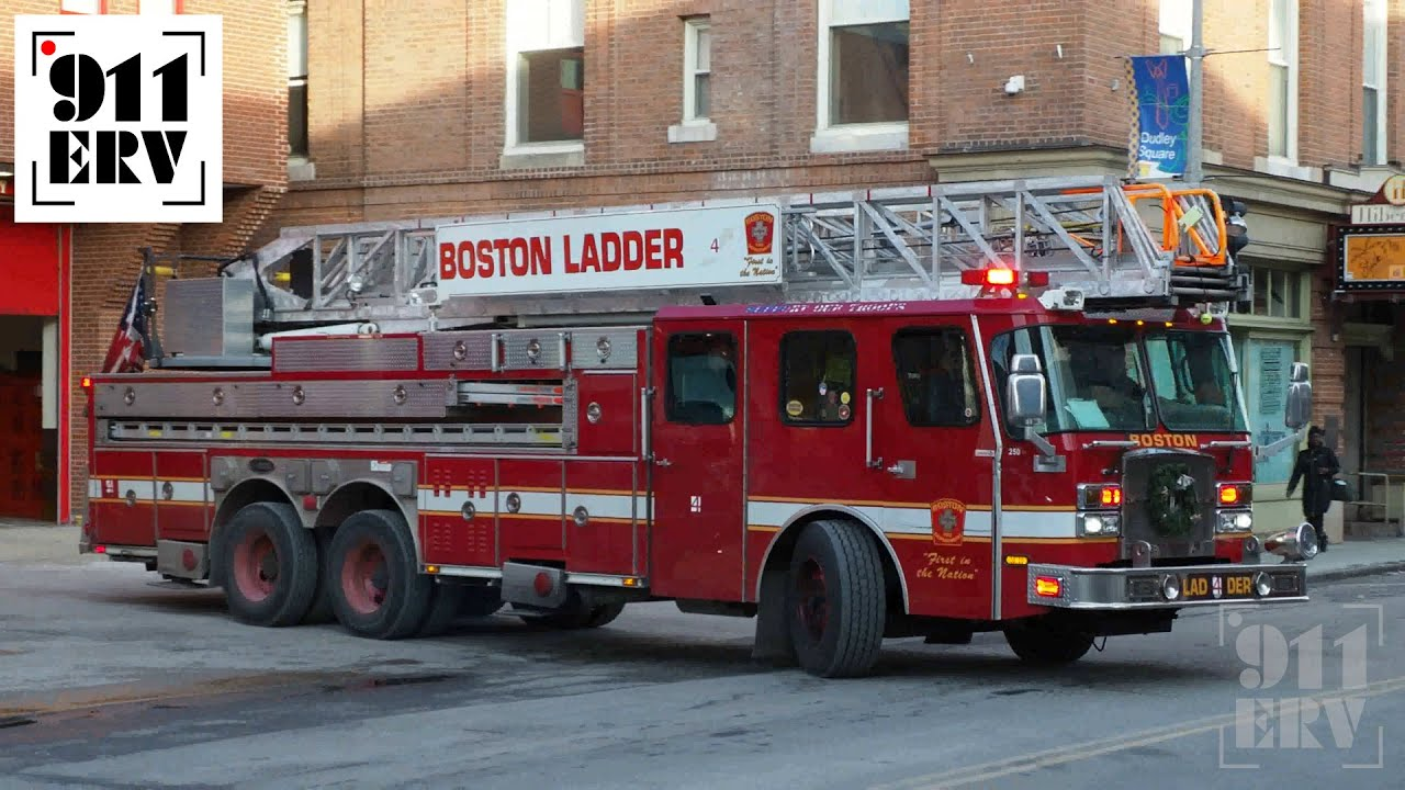 Boston Fire NEW Ladder 17 Responding with Rumbler - YouTube