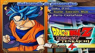 Baixar Dragon Ball Z Budokai Tenkaichi 4 (BETA 4) | New´s Custom´s (Characters References)  (MOD PS2)