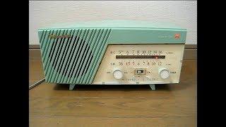 三菱電機の真空管ラジオ 5P-710です。 発売は昭和34年、当時の定価は現金正価6300円・月賦6800円でした。 パイロットランプは、三菱のスリーダイヤの形状で、 ...
