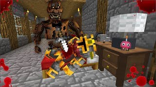 SCARY HORROR FNAF MONSTER ATTACKS MC NAVEED MOD / FIGHT OFF FIVE NIGHTS AT FREDDYS !! Minecraft
