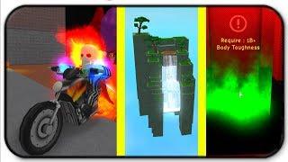 *New* Ghost Rider Power And New Secret Training Areas - Roblox Super Power Training Simulator