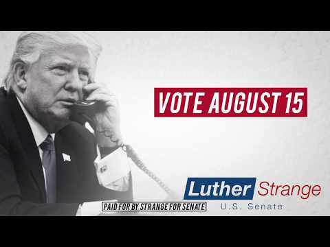 President Trump Delivers A Message On Behalf Of Luther Strange