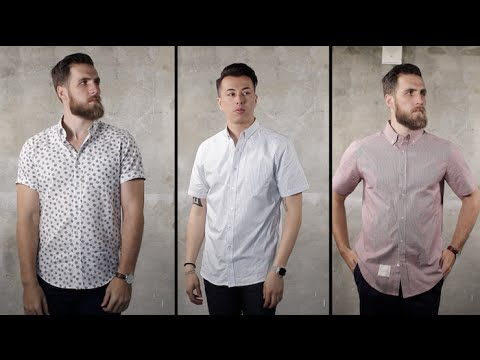 03f0a11a17d80 3 Ways to Wear a Short Sleeve Button Down with Gent's Lounge - YouTube
