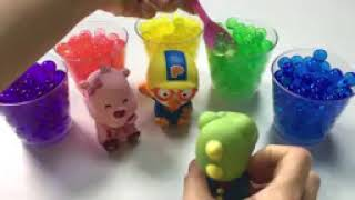Play and Learn Colors Animal Toys Lunch  Creative For Children  Pororo Friends