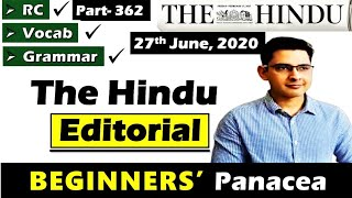 The Hindu Newspaper Today | The Hindu Editorial Today || Mischief Managed || 27 June 2020