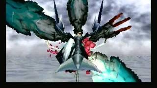 Panzer Dragoon Saga Boss Battle & Enemy Attacks [PAL-60] - Gunship & Guardian Dragon - [HD-720p]