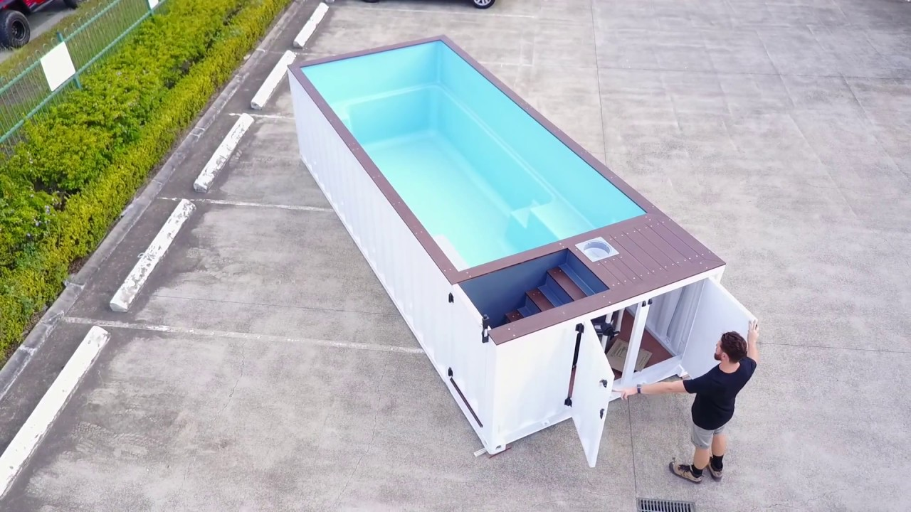shipping container pool 6m walk around youtube. Black Bedroom Furniture Sets. Home Design Ideas
