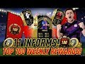 11 INFORMS!! TOP 100 WEEKLY REWARDS FUT CHAMPIONS!! ULTIMATE TOTW PACK OPENING!