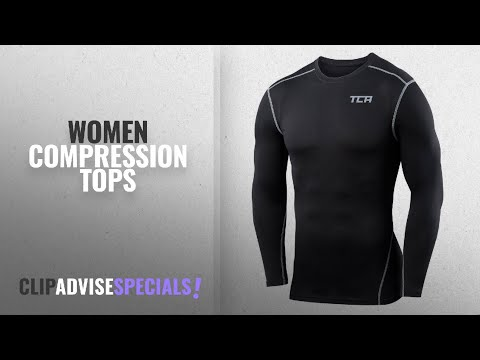 10 Best Women Compression Tops : Boys TCA Pro Performance Compression Shirt Long Sleeve Base Layer