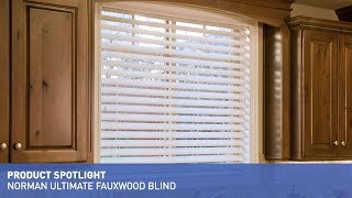 Norman Ultimate Faux Wood Blinds With Smartprivacy