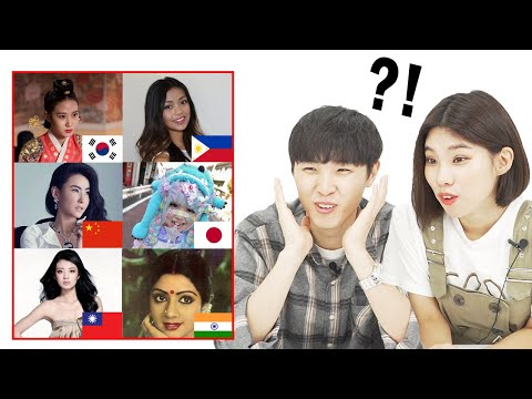 Koreans React to 100 Years of ASIAN Beauty!!