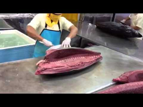 Super fast Tuna cutting