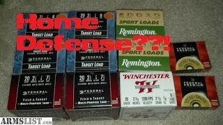 is the 20 gauge good for home defense?