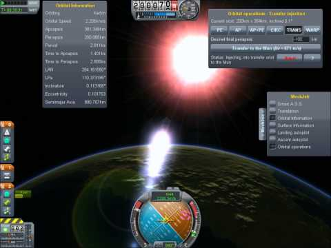 Kerbal Space Program Mun Landing Tutorial - Using MechJeb Autopilot