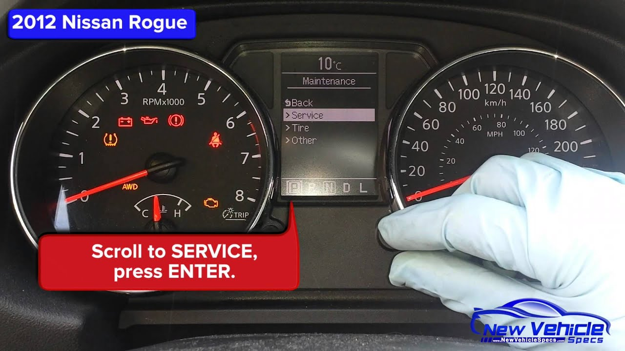 2012 Nissan Rogue Oil Light Reset Youtube