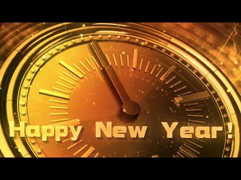HAPPY NEW YEAR Countdown 2019 ( v 606 ) CLOCK with Sound Effects and Voice 4k