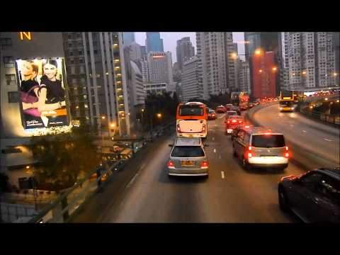 Double Decker Bus from Stanley to Exchange Square   Hong Kong 2013 2014