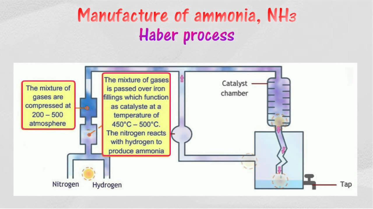 Ammonia production in industry. Getting ammonia in the lab 29
