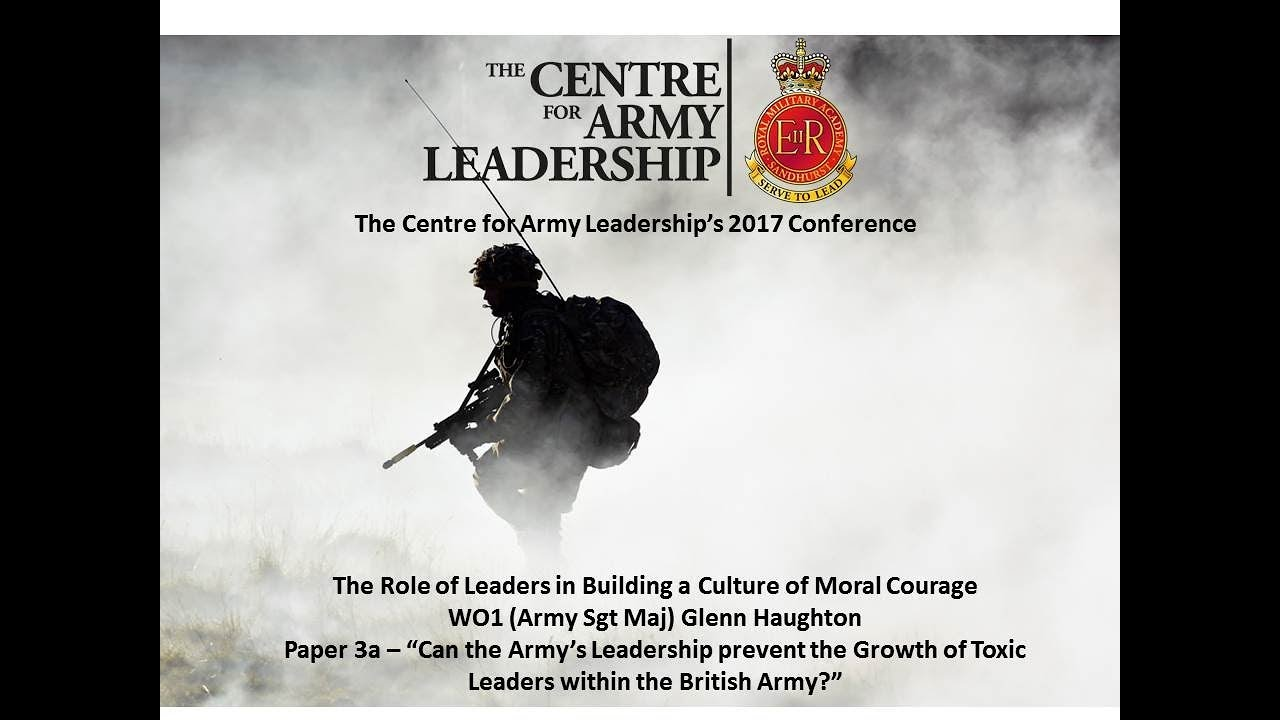 CAL Conference - WO1 (Army Sergeant Major) Glenn Haughton