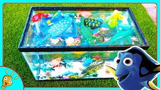 Learn SEA Animals In Water Fish Tank for Kids by Squishee Nugget