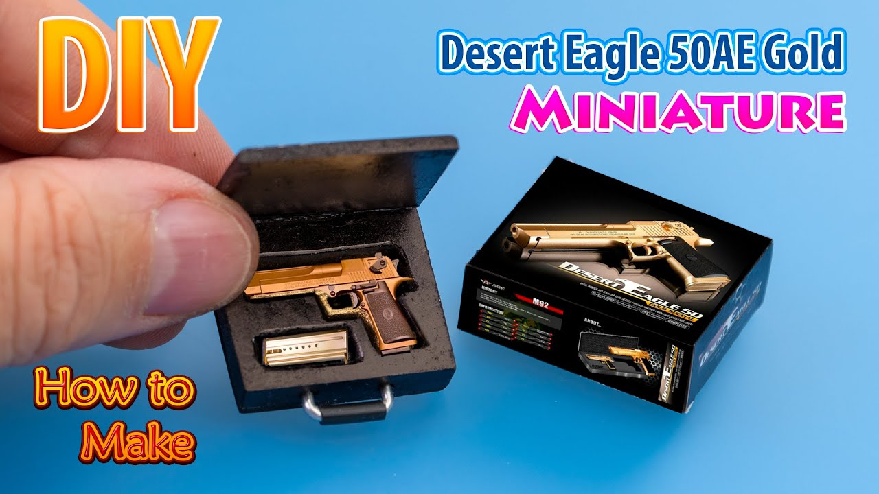 "DIY Miniature Desert Eagle Gun Mode For 12"" Action Figure Weapons toy"