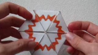 papercraft - flexagon - heptahexaflexagon - dutchpapergirl