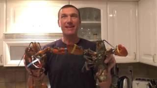 Рецепт приготовления двух лобстеров в домашних условиях