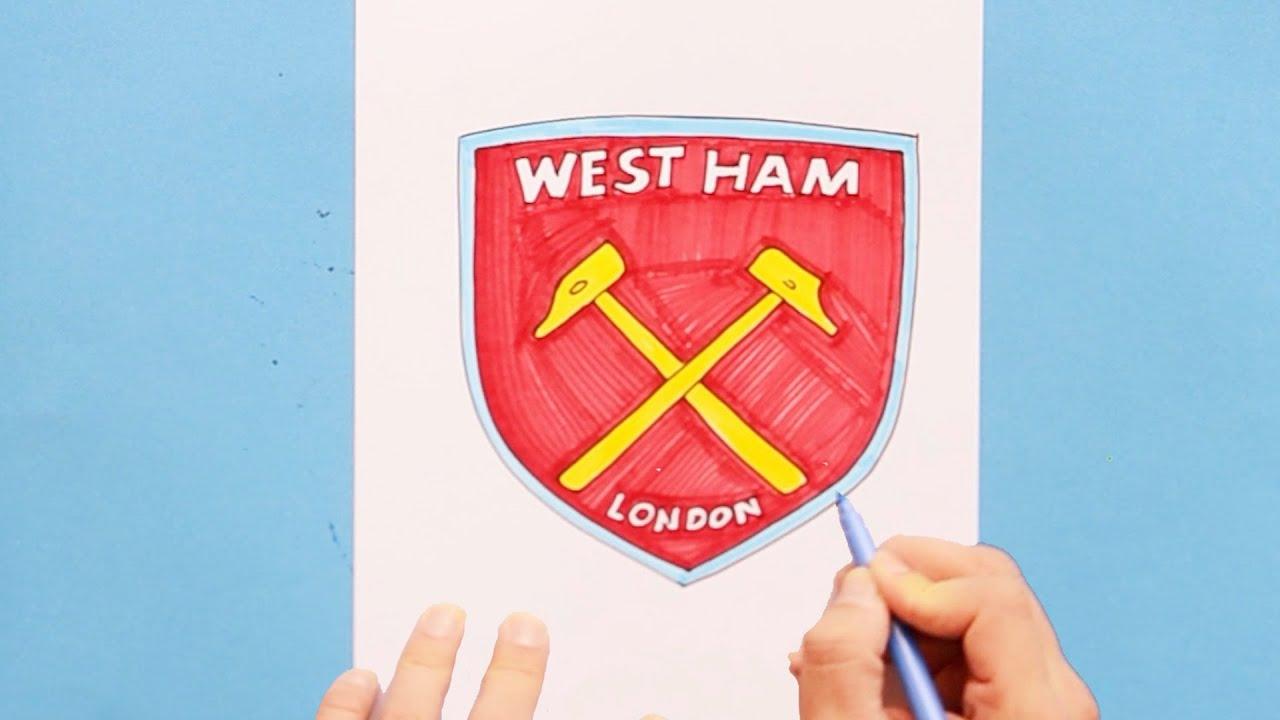 How To Draw West Ham United F C Logo Youtube