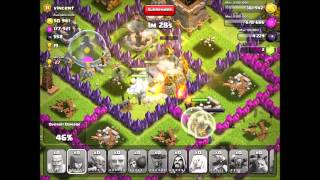 Clash of Clans - All Troops and Spells Attack!!