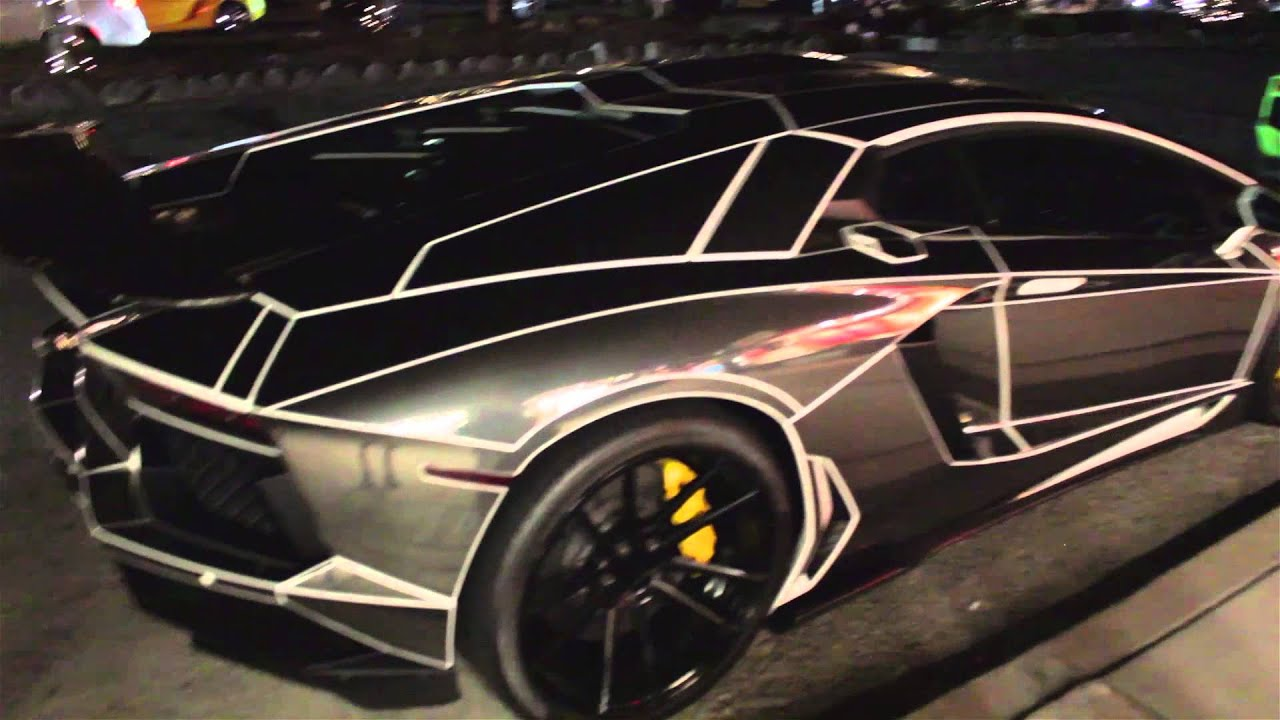 Tron Lamborghini Aventador Black White Youtube