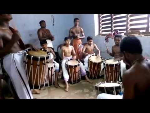 Chenda- Panchari Melam Practice for arangettam