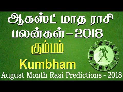 Kumbha Rasi (Aquarius) August Month Predictions 2018 – Rasi Palangal
