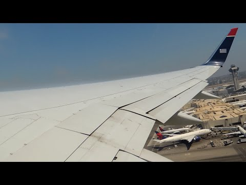US Airways Boeing 757-200 [N909AW] push back, taxi, and takeoff from LAX