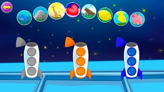 Color Matching game for kids with rocket - learn color with rocket game for children baby