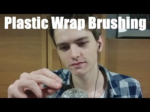 (ASMR) Intense Brushing Sounds on Plastic Wrap Obviously