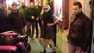 EXCLUSIVE - Pop icon Madonna celebrating the release of her new single, Living For Love, in Paris