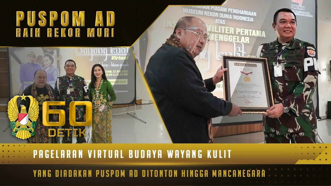 Penghargaan Rekor Muri yang Diterima oleh Puspomad Menjadi Kado Terbaik Pada Hari Jadi ke-74
