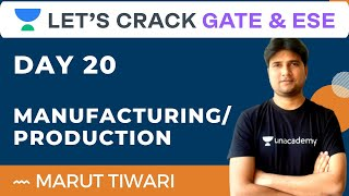 Day 20 ManufacturingProduction  23 Days Complete Revision Test Series  Marut Tiwari