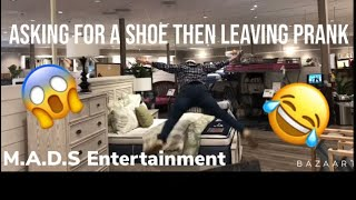 Asking For Shoe Sizes Then Leaving PRANK!! **Super Funny Reactions**