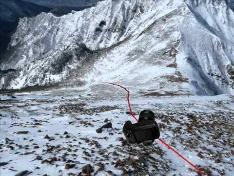 八ヶ岳カメラ滑落 - YouTube