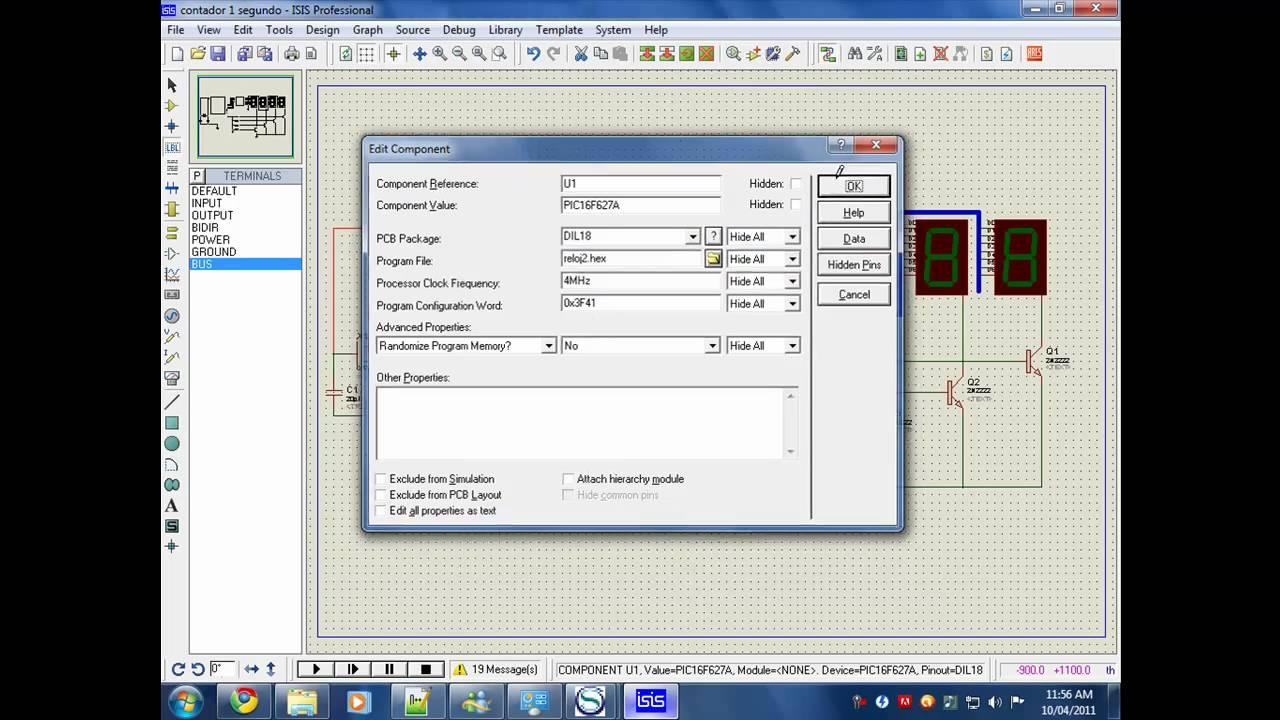 Simulation Proteus Clock 7 Segment Display Using Pic Digit Arduino Also Circuit 4026