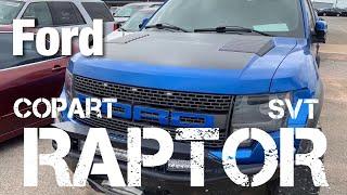 Ford Raptor SVT 6.2L Copart Rebuild
