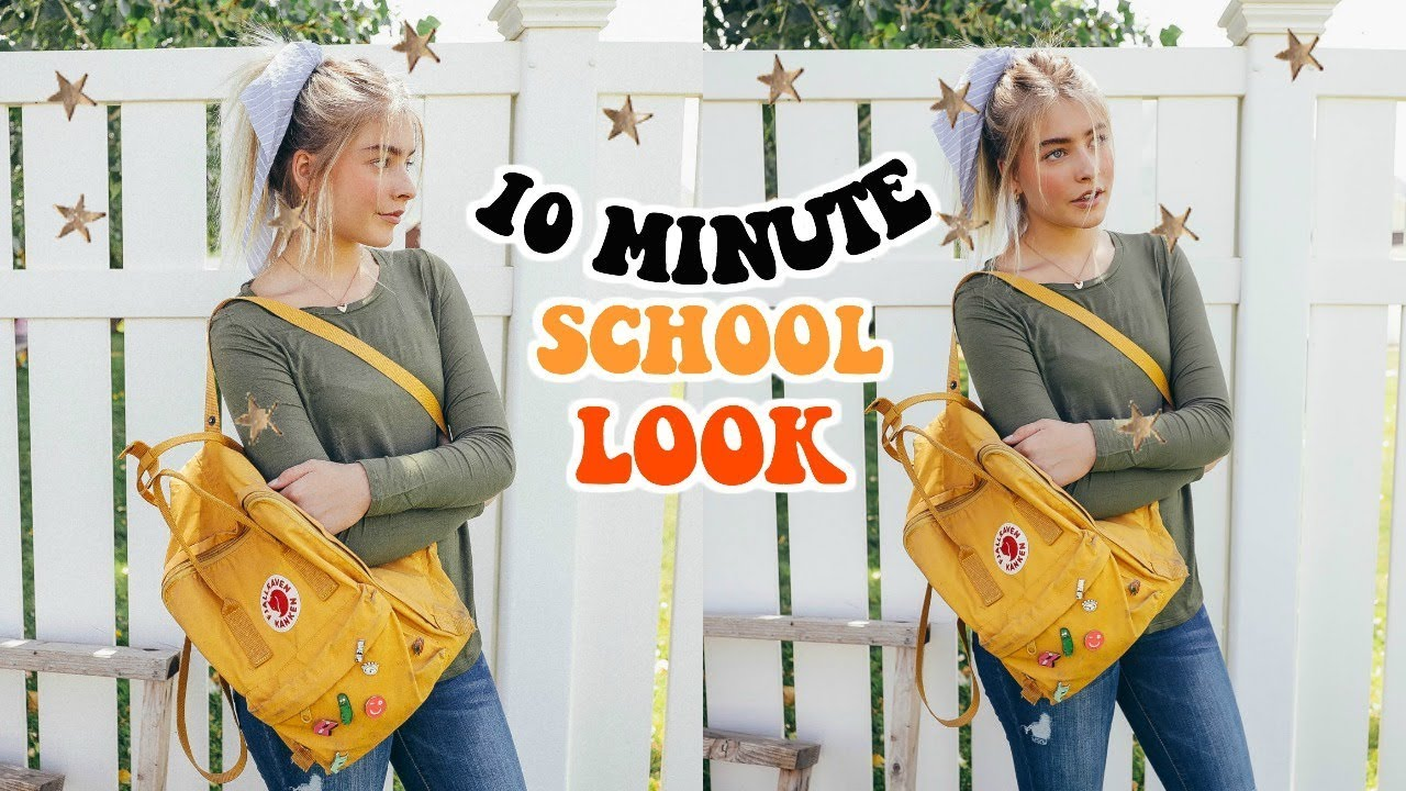 10 MINUTE Look For School (Makeup, Hair + Outfit) 2