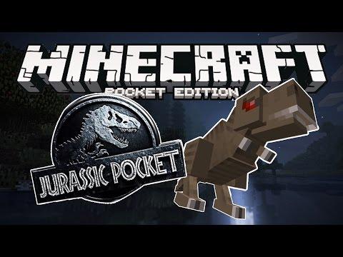 EPIC DINOSAURS MOD!! Minecraft Pocket Edition - Jurassic Pocket Mod