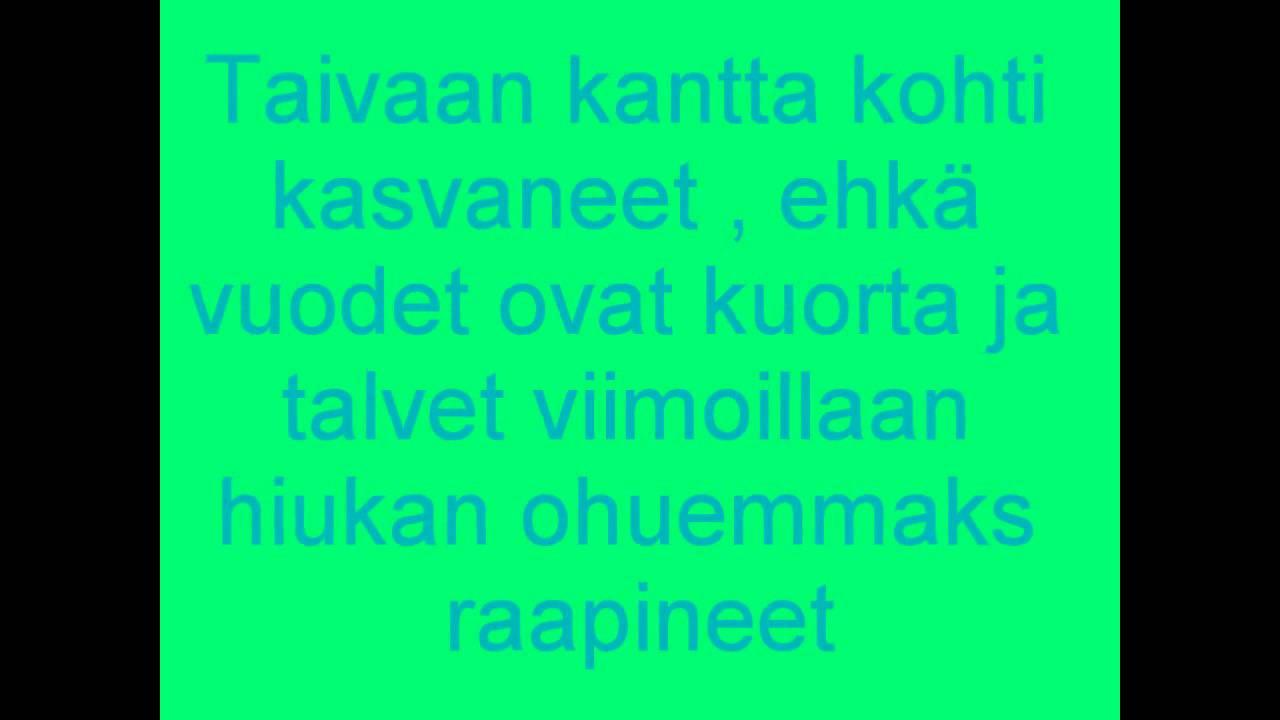 Juha Tapio Rakastettu Lyrics