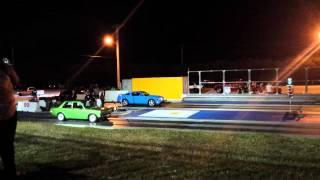 Datsun 510 vs Mustang      guam drags