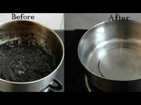 How To Clean Burnt Pots And Pans| Useful Kitchen Tips || Arshiya's Corner